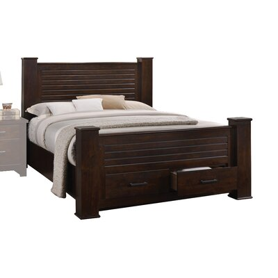 Palmore with Storage Panel Bed Size: King