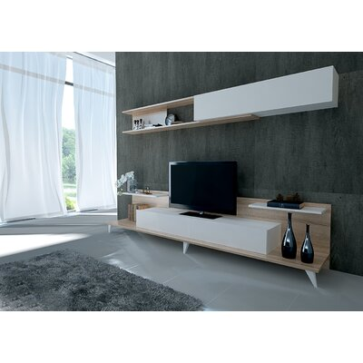 Groce 94 Entertainment Center Color: Sonomo/White