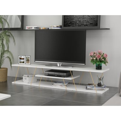 Colette 59 TV Stand Color: White/Gold