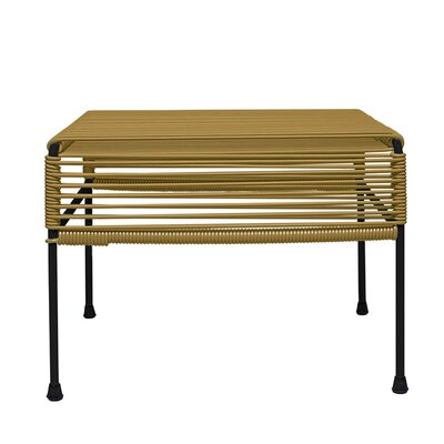 Cobbey Cocktail Ottoman Finish: Black/Gold