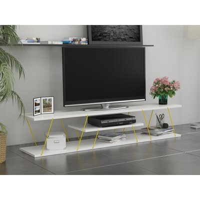 Colette 59 TV Stand Color: White/Yellow