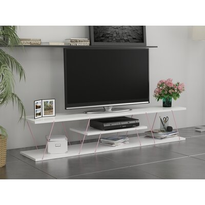 Colette 59 TV Stand Color: White/Pink