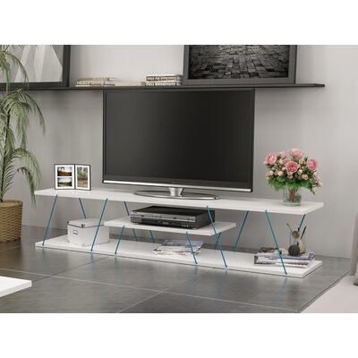 Cabral 59 TV Stand Color: Blue