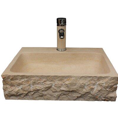 Stonie Stone Rectangular Vessel Bathroom Sink Sink Finish: Beige