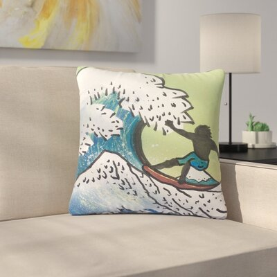 Infinite Spray Art Hokusai Remake Outdoor Throw Pillow Size: 18 H x 18 W x 5 D