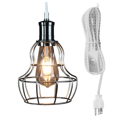 Chilson 1-Light Schoolhouse Pendant