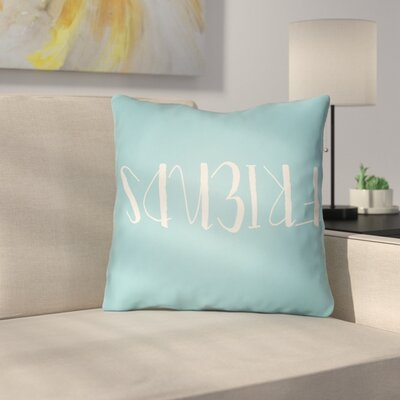 Indoor/Outdoor Throw Pillow Size: 18 H x 18 W x 4 D, Color: Light Blue