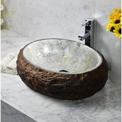 Mason Stone Oval Vessel Bathroom Sink