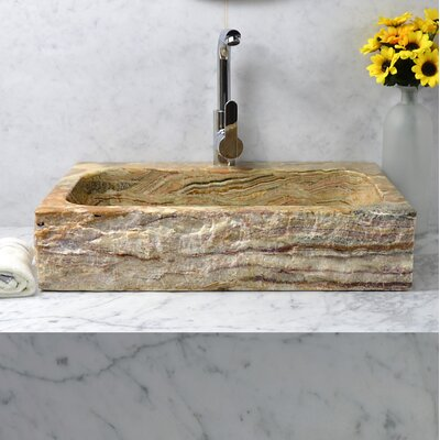 Oliver Stone Rectangular Vessel Bathroom Sink