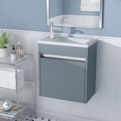 Hancock 17 Single Bathroom Vanity Base Finish: Glossy Grey