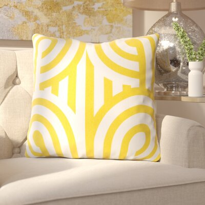 Enedina Sphere Cotton Throw Pillow Color: Yellow, Filler: Down
