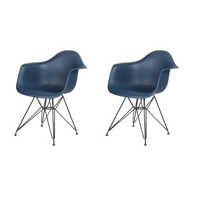 Druminagh Dining Chair Color: Navy Blue