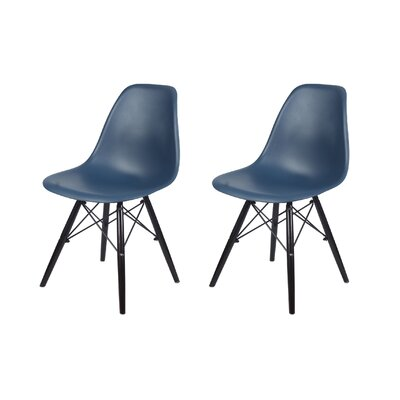 Dromore Dining Chair Color: Navy Blue