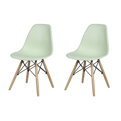 Dromore Dining Chair Color: Green