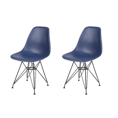 Drexel Dining Chair Color: Navy Blue