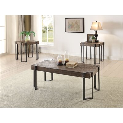 Cristobal 3 Piece Coffee Table Set