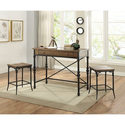 Manriquez 3 Piece Pub Table Set