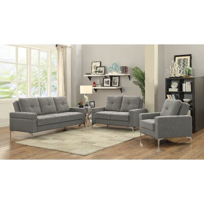 Hutsell Adjustable Configurable 3 Piece Living Room Set