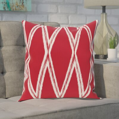 Hansell Geometric Print Outdoor Pillow Color: Formula One, Size: 18 H x 18 W x 1 D