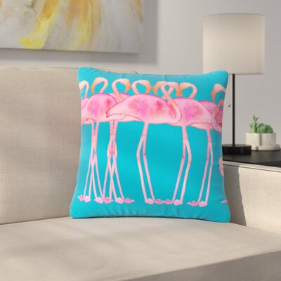 Flamboyance Animals Outdoor Throw Pillow Size: 18 H x 18 W x 5 D