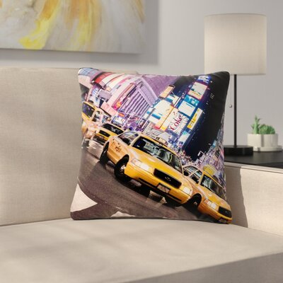Juan Paolo Rush Hour Travel Urban Outdoor Throw Pillow Size: 16 H x 16 W x 5 D