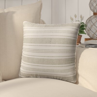 Pinehurst Outdoor Throw Pillow Size: 20 H x 20 W x 5 D, Color: Beige/ White