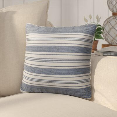 Pinehurst Outdoor Throw Pillow Size: 16 H x 16 W x 5 D, Color: Blue/ White