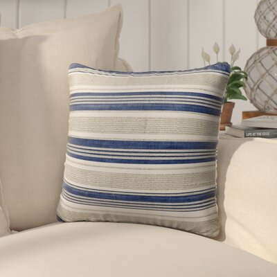 Pinehurst Outdoor Throw Pillow Size: 18 H x 18 W x 5 D, Color: Blue/ Beige