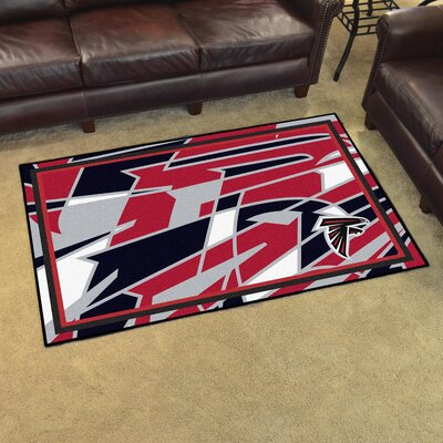 NFL Red Area Rug Team: Atlanta Falcons