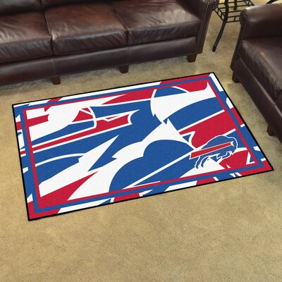 NFL Red Area Rug Team: Buffalo Bills
