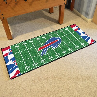 NFL Green Area Rug Team: Buffalo Bills