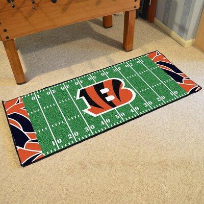 NFL Green Area Rug Team: Cincinnati Bengals