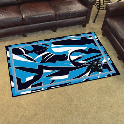 NFL Red Area Rug Team: Carolina Panthers