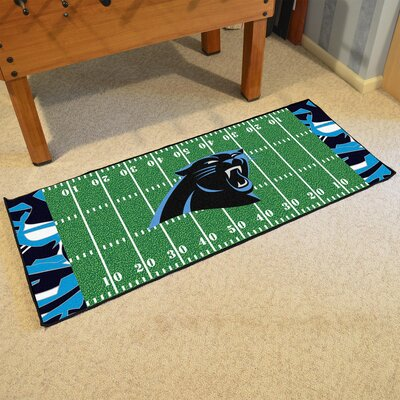NFL Green Area Rug Team: Carolina Panthers