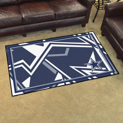 NFL Red Area Rug Team: Dallas Cowboys