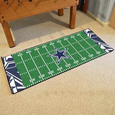 NFL Green Area Rug Team: Dallas Cowboys