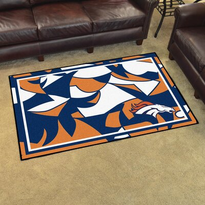 NFL Red Area Rug Team: Denver Broncos