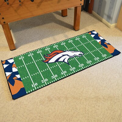 NFL Green Area Rug Team: Denver Broncos