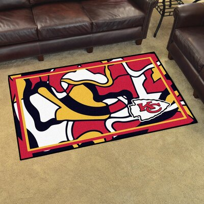 NFL Red Area Rug Team: Kansas City Chiefs