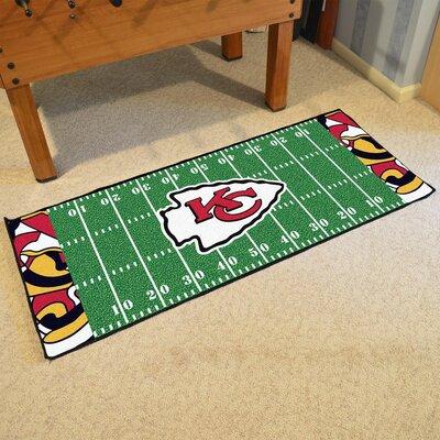 NFL Green Area Rug Team: Kansas City Chiefs