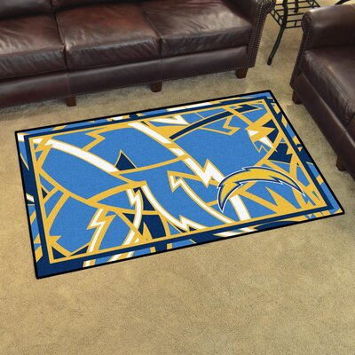 NFL Red Area Rug Team: Los Angeles Chargers