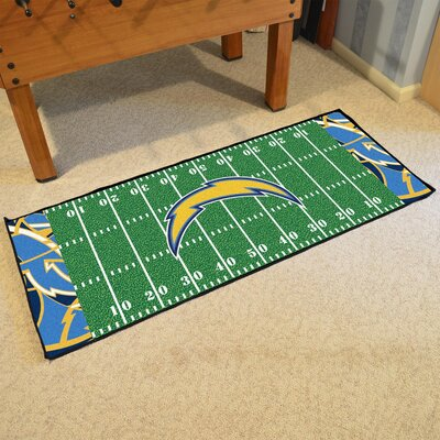 NFL Green Area Rug Team: Los Angeles Chargers