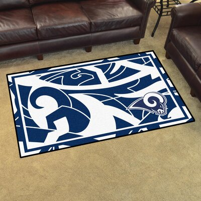 NFL Red Area Rug Team: Los Angeles Rams