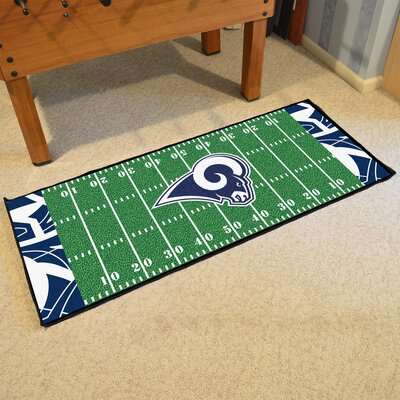 NFL Green Area Rug Team: Los Angeles Rams