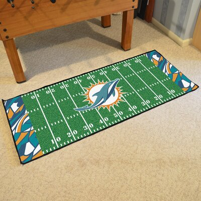 NFL Green Area Rug Team: Miami Dolphins
