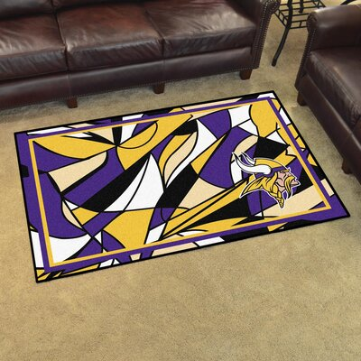 NFL Red Area Rug Team: Minnesota Vikings