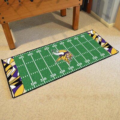 NFL Green Area Rug Team: Minnesota Vikings