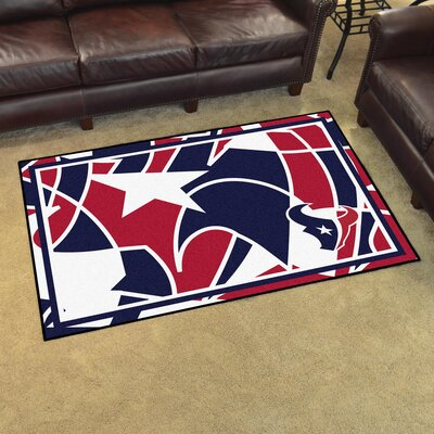 NFL Red Area Rug Team: Houston Texans