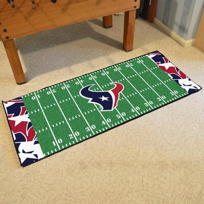 NFL Green Area Rug Team: Houston Texans