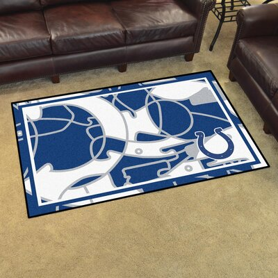 NFL Red Area Rug Team: Indianapolis Colts